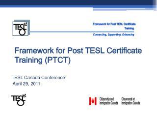 TESL Canada Conference  April 29, 2011.