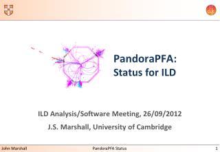 PandoraPFA: Status for ILD