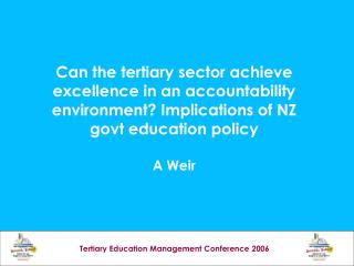 Tertiary Education Management Conference 2006