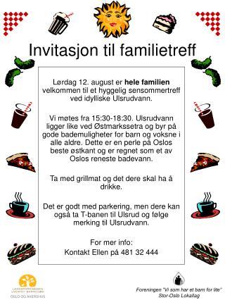 Invitasjon til familietreff