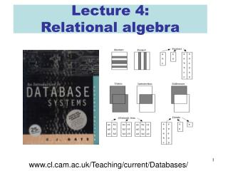 Lecture 4: Relational algebra