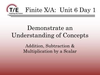 Demonstrate an Understanding of Concepts