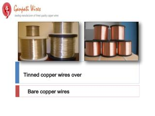 Tinned copper wires over Bare copper wires