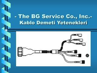 - The BG Service Co., Inc.- Kablo Demeti Yetenekleri