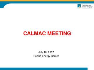 CALMAC MEETING