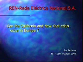 REN-Rede Eléctrica Nacional,S.A.
