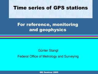 Time series of GPS stations