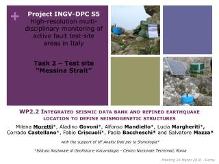 Task 2 � Test site �Messina Strait�