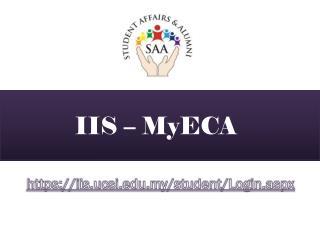 IIS –  MyECA