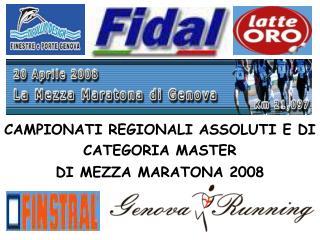 CAMPIONATI REGIONALI ASSOLUTI E DI CATEGORIA MASTER