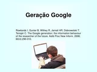 Geração Google