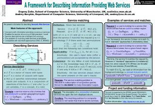 A Framework for Describing Information Providing Web Services