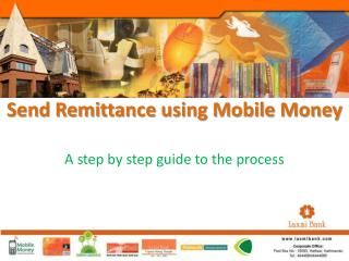 Send Remittance using Mobile Money