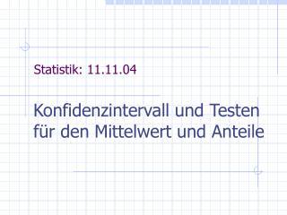 Statistik: 11.11.04