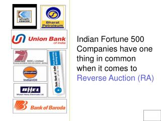 Indian Fortune 500 Companies have one thing in common when it comes to  Reverse Auction (RA)