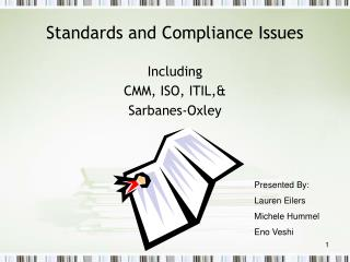 Standards and Compliance Issues