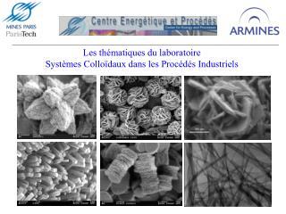 Les thématiques du laboratoire  Systèmes Colloïdaux dans les Procédés Industriels