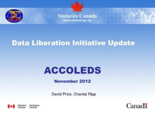 Data Liberation Initiative Update