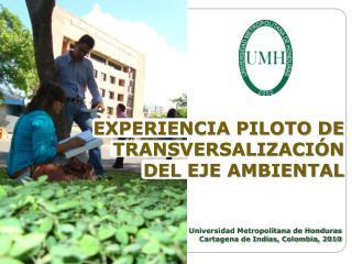 EXPERIENCIA PILOTO DE TRANSVERSALIZACI N DEL EJE AMBIENTAL