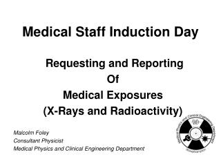 Medical Staff Induction Day