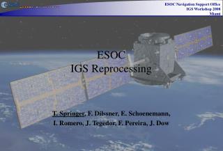 ESOC  IGS Reprocessing