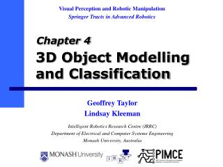 3D Object Modelling and Classification