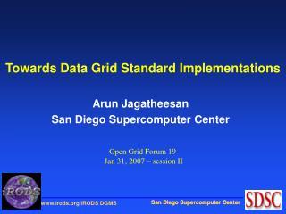 Towards Data Grid Standard Implementations