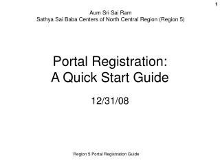 Portal Registration: A Quick Start Guide
