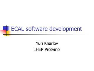 ECAL software development