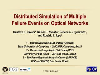 Distributed Simulation of Multiple Failure Events on Optical Networks