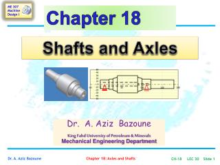 Shafts and Axles