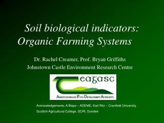 Soil biological indicators:   Organic Farming Systems