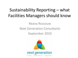 Sustainability Reporting – what Facilities Managers should know