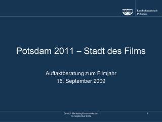 Potsdam 2011 – Stadt des Films