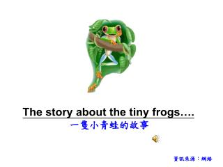The story about the tiny frogs…. 一隻小青蛙的故事