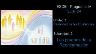 ESDE - Programa IV Guía  24 Unidad 7:  Pluralidad de las Existencias Subunidad  2: