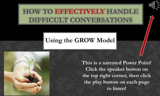 Using the GROW Model