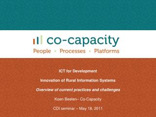 ICT for Development Innovation of Rural Information Systems