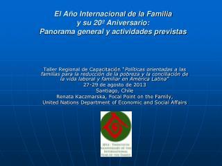 El Año Internacional de la Familia