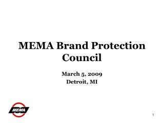 MEMA Brand Protection Council