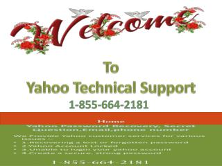 Yahoo Customer Support Services 1-855-664-2181