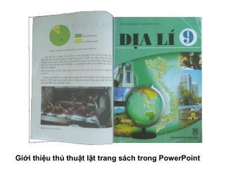Giới thiệu thủ thuật lật trang sách trong PowerPoint