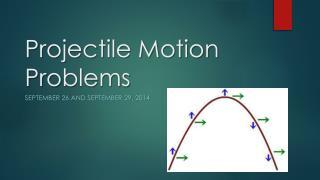 Projectile Motion Pr o blems