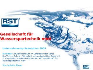 Unternehmenspräsentation 2009 Zweites Schülerstipendium im Landkreis Oder Spree