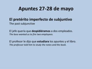 Apuntes  27-28 de mayo