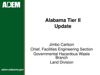 Alabama Tier II Update