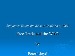 Singapore Economic Review Conference 2009