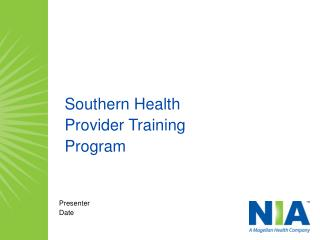 Southern Health Provider Training  Program
