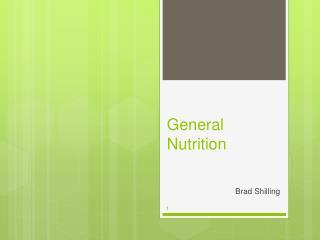 General Nutrition