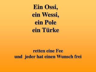 Ein Ossi,  ein Wessi,  ein Pole ein Türke